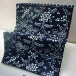 蓝印花布花鸟纹布料